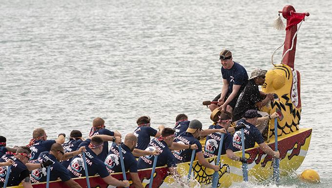 Kadena Shoguns compete in Naha Dragon Boat Races