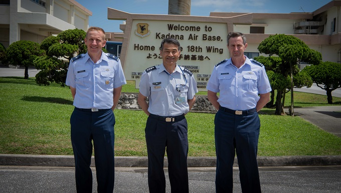 JASDF Chief of Staff, U.S. Forces Japan commander visit Okinawa