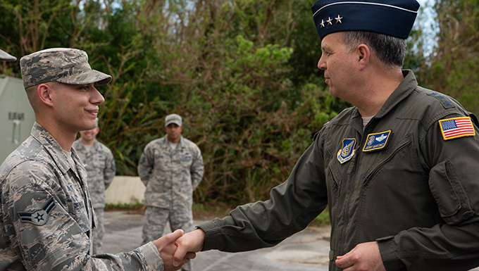 USFJ, 5th AF CC visits Kadena Air Base